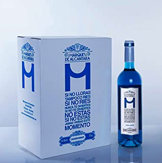 MDA Vino Azul Chardonnay - Vino Azul 100% Natural (1 Botella