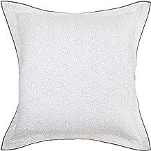 Croscill Saffira Euro Sham, 26x26, White
