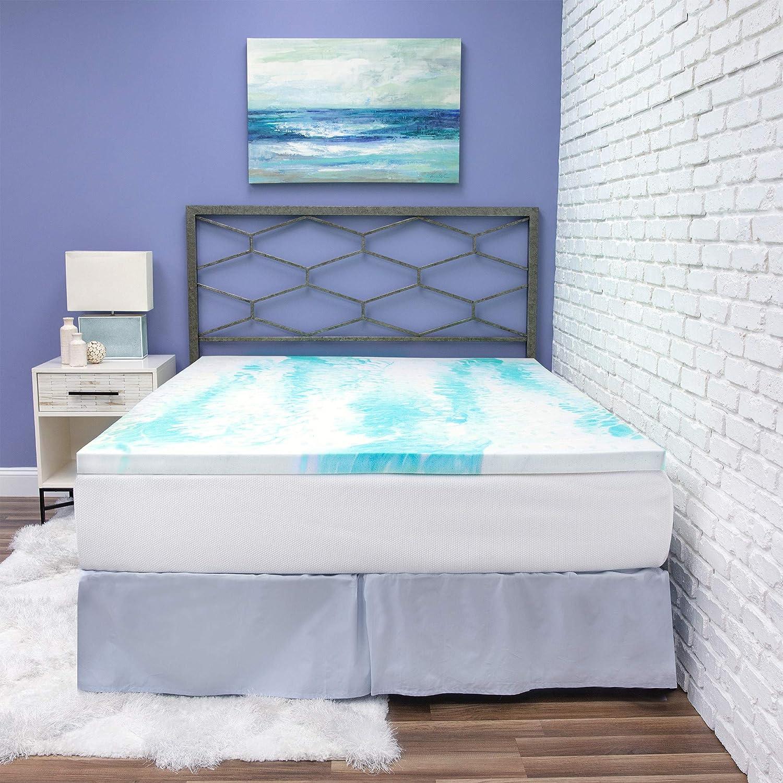 BioPEDIC 祝日 2-Inch Gel Swirl Memory Twin XL Topper Foam Mattress 価格交渉OK送料無料