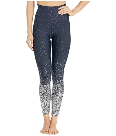 Beyond Yoga Alloy Ombre High-Waisted Midi Leggings (Nocturnal Navy/Silver Speckle) Women