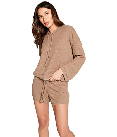 Chaser Love Rib Long Sleeve Cropped Pullover Hoodie