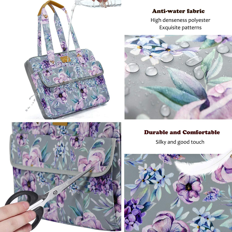 3,7L-10,3L Ultrad/ünne und Erweiterbare Laptoptasche Handtasche Damen 14-15 Zoll -Lila Blume Geschenke f/ür Frauen. wasserdichte und Diebstahlsichere Umh/ängetasche Aktentasche