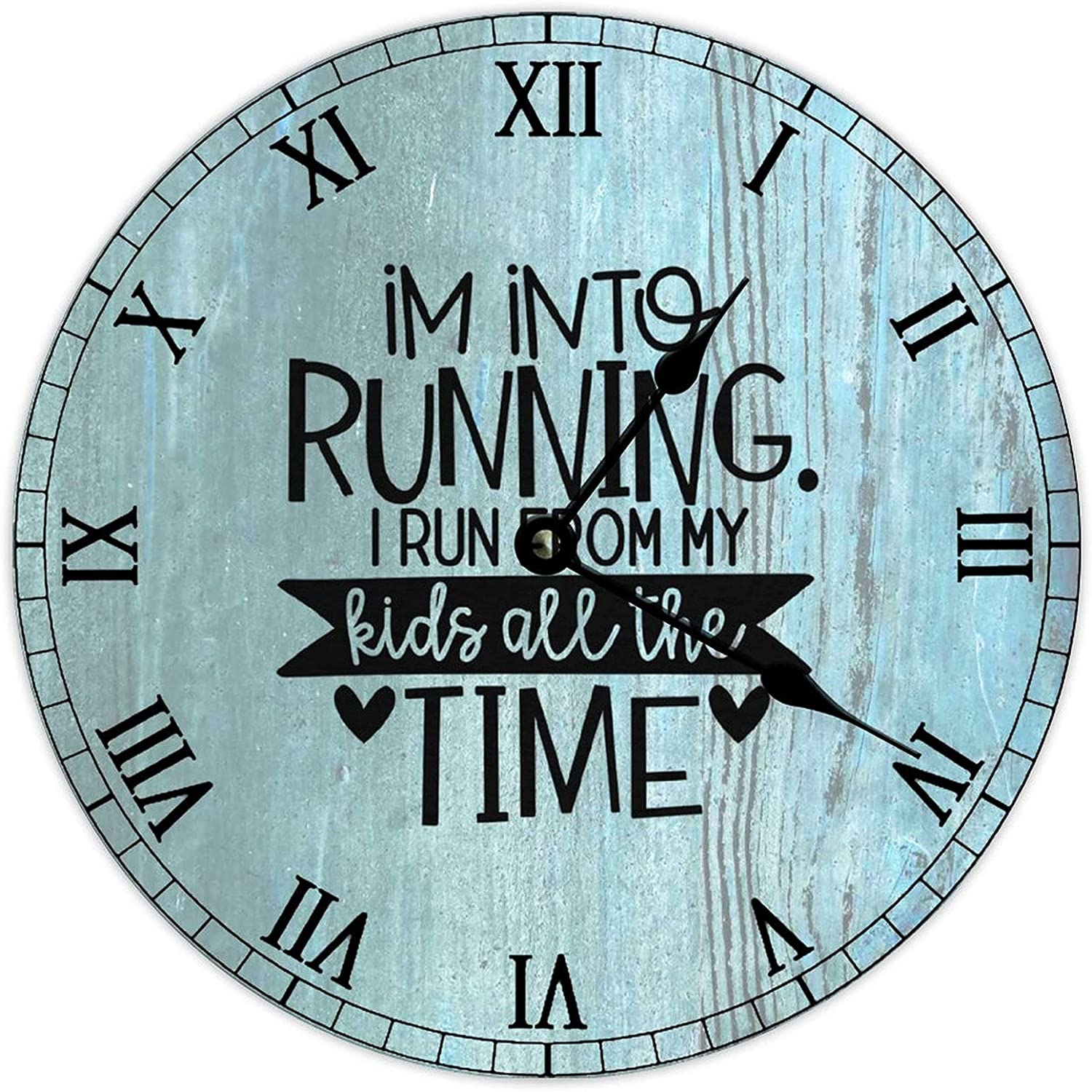 by National uniform free shipping Unbranded Wooden Max 89% OFF Clock Wall Art 15 I Into Running R Inch I'm