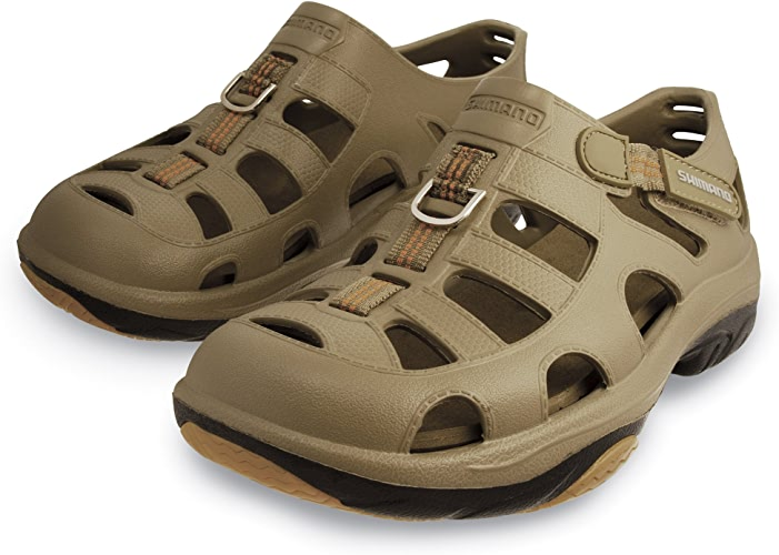 SHIhommeO Evair Marine Fishing chaussures, Taille 09, Khaki noir
