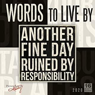 2020 Calendar: Words to Live by 16-Month 2020 Wall Calendar - coolthings.us