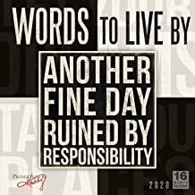 words to live by calendar