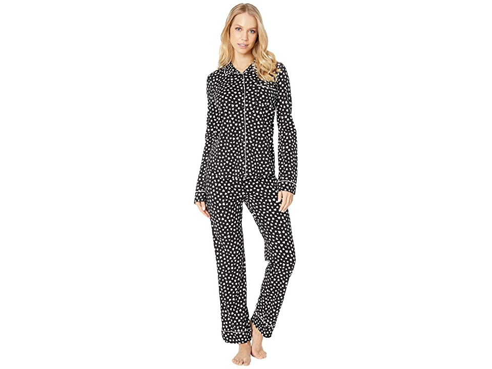 P.J. Salvage Give Love PJ Set (Black) Women