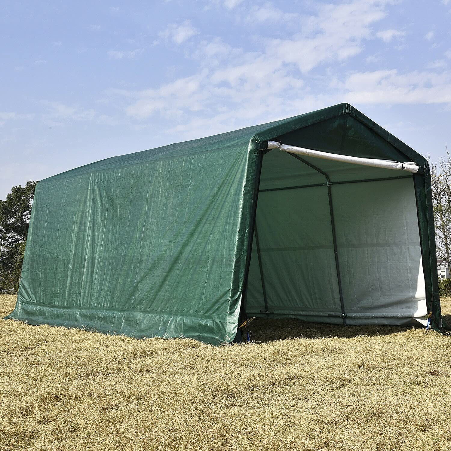 HUIJK Storage Sheds 10x15 FT Ranking Over item handling TOP3 Canopy Carport Outdoo Car Tent Shed