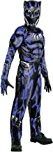 Party City Black Panther Muscle Halloween Costume for Boys, Black Panther Movie, Includes Accessories