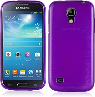 Cadorabo Case Works with Samsung Galaxy S4 Mini in Purple – Shockproof and Scratch Resistant TPU Silicone Cover – Ultra Slim Protective Gel Shell Bumper Back Skin