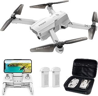 ドローン Tomzon GPS搭載 4K HD 広角カメラ付き 200g以下 リアルタイム伝送 折り畳み式 高度維持・ワンキー離陸/着陸・フォローミーモード・ジェスチャー撮影 ・MVモード・オートリターン 収納ケース付き バッテリー2個 飛行時...
