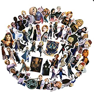 50PCS Doctor Who TV Stickers Lovely Boy and Girl Sticker Laptop Computer Bedroom Wardrobe Car Skateboard Motorcycle Bicycle Mobile Phone Luggage Guitar DIY Decal (Doctor Who 50)