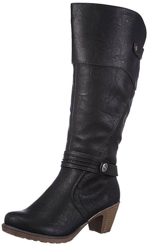 男哺乳類落胆するRieker Women's High Black Synthetik Snow Boots 37