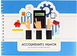 Original Accountant Gifts - Personalizable Humor Booklet With Matching Card For Your Favorite Auditor, Bookkeeper Or Cpa - Extremely Easy-to-fill And Thoughtful Gift Ideas for a Colleague or Co-Worker