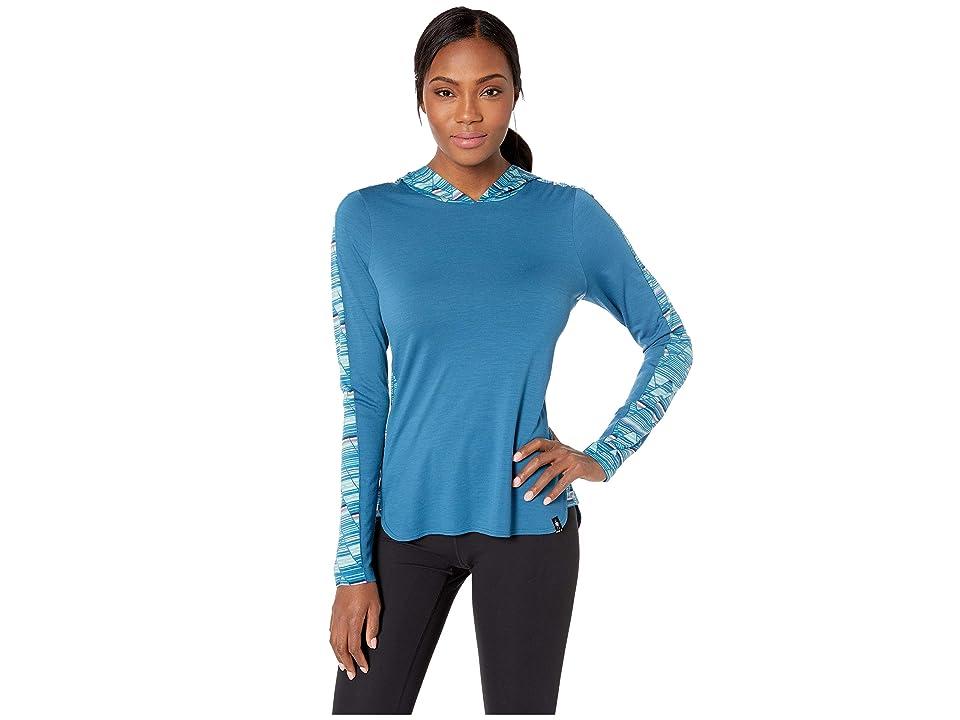 Image of Smartwool Merino 150 Hoodie (Light Marlin Blue) Women's Sweatshirt