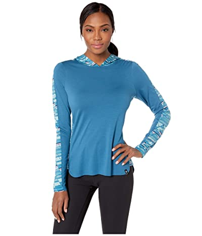 Smartwool Merino 150 Hoodie (Light Marlin Blue) Women