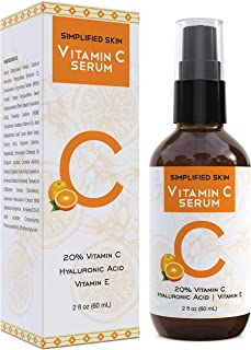 Vitamin C Serum 20% for Face & Eyes (2 oz). Anti Aging, Wrinkles, Acne & Dark Spot Remover Treatment with Hyaluronic Acid ...