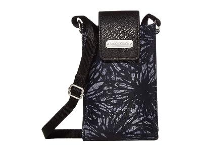 Baggallini New Classic RFID Phone Crossbody (Onyx Floral) Cross Body Handbags
