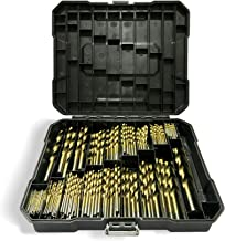 230 PCS Titanium Twist Drill Bit Set, Professional Series HSS Metric Drill Bits for Metal, Steel, Wood, Plastic, Copper, Aluminum Alloy, Stainless Steel with Box