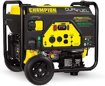 Champion 3800-Watt Dual Fuel RV Ready Portable Generator with Electric Start