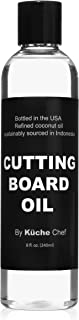 Natural Timber Cutting Board Oil For Daily Use - Bottled in the USA from Sustainably Sourced Non GMO Refined Coconut Oil. ...