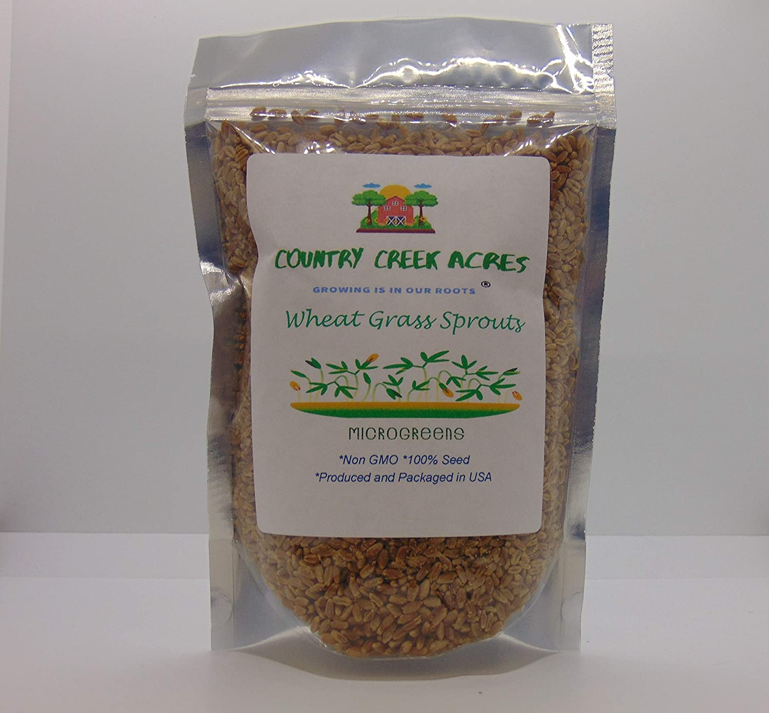 Non-GMO Hard shop Red Wheat Grass Microgreens Super popular specialty store Sprouts 2 Sprouting -