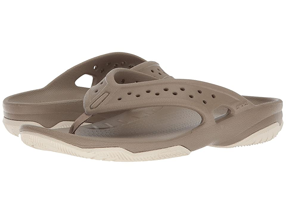 Crocs Swiftwater Deck Flip (Khaki/Stucco) Men
