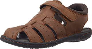 4a2b958d78b9 Hush Puppies Men s Fishermen Bounce Leather Athletic   Outdoor Sandals