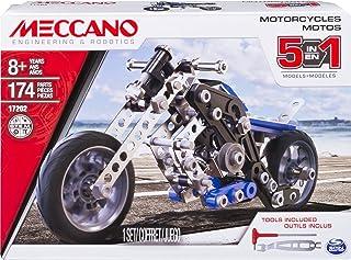 MECCANO - MOTO 5 MODÈLES - Coffret Inventions Avec 174 Pièces Et 2 Outils - Jeu de Construction - 6036044 - Jouet Enfant 8...