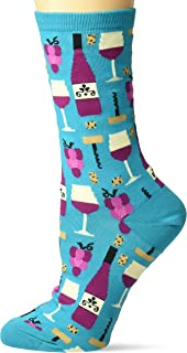 Hot Sox womens Food and Booze Novelty Casual Crew Socks Casual Sock
