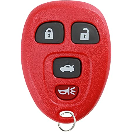 KeylessOption Keyless Entry Remote Control Car Key Fob Replacement for 15252034 -Red