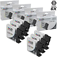 LD © Compatible With Brother LC-61 Set of 6 Black Inkjet Cartridges for the DCP-165c, 375CW, 385CW, 395CN, 585CW, J125, J140W, MFC-250C, 255CW, 290C, 295CN, 490CW, 495CW, 5490CN, 790CW, 795CW, 990CW, J220, J265W, J270W, J410W, J415W, J615W, J630W, MFC-5895cw Printers