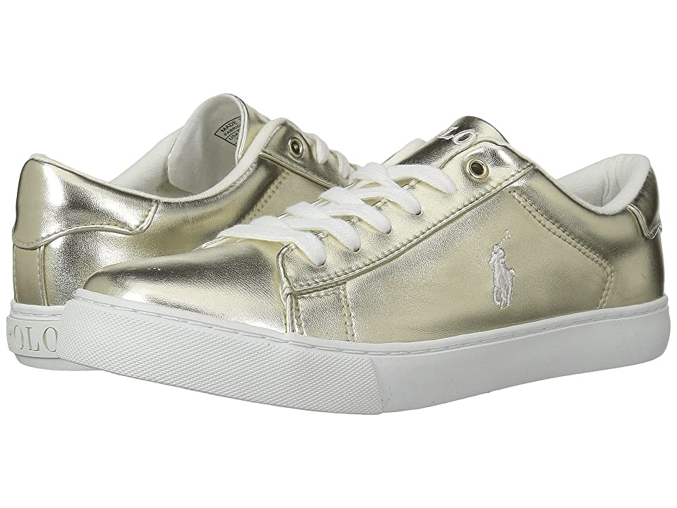 Polo Ralph Lauren Kids Easten (Big Kid) (Gold Metallic/White Pony Player) Kid