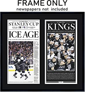 The Los Angeles Times Newspaper Frame - with Los Angeles Kings Colors Double Mat