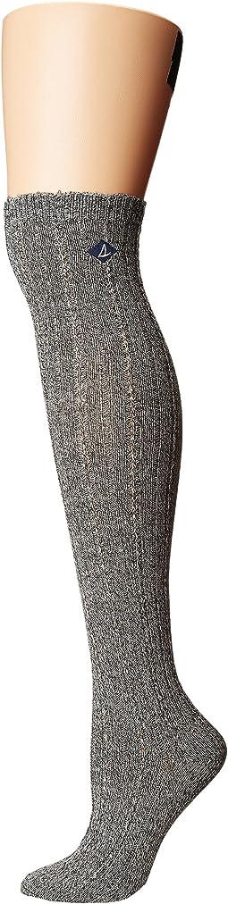 Sperry - Tuck Stitch Rib w/ Scallop Over the Knee