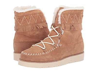Jack Rogers Vera Suede Lace-Up Boot (Camel) Women