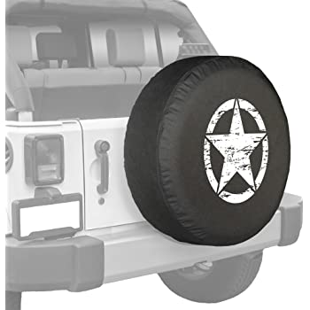 Spare Tire Cover Vintage American Flag Jeep Grill Fits Jeep Tire Cover or Jeep Wrangler or RV 33 Inch