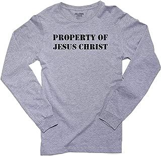 Property of Jesus Christ - Christian Belief Prayer Support Men's Long Sleeve T-Shirt