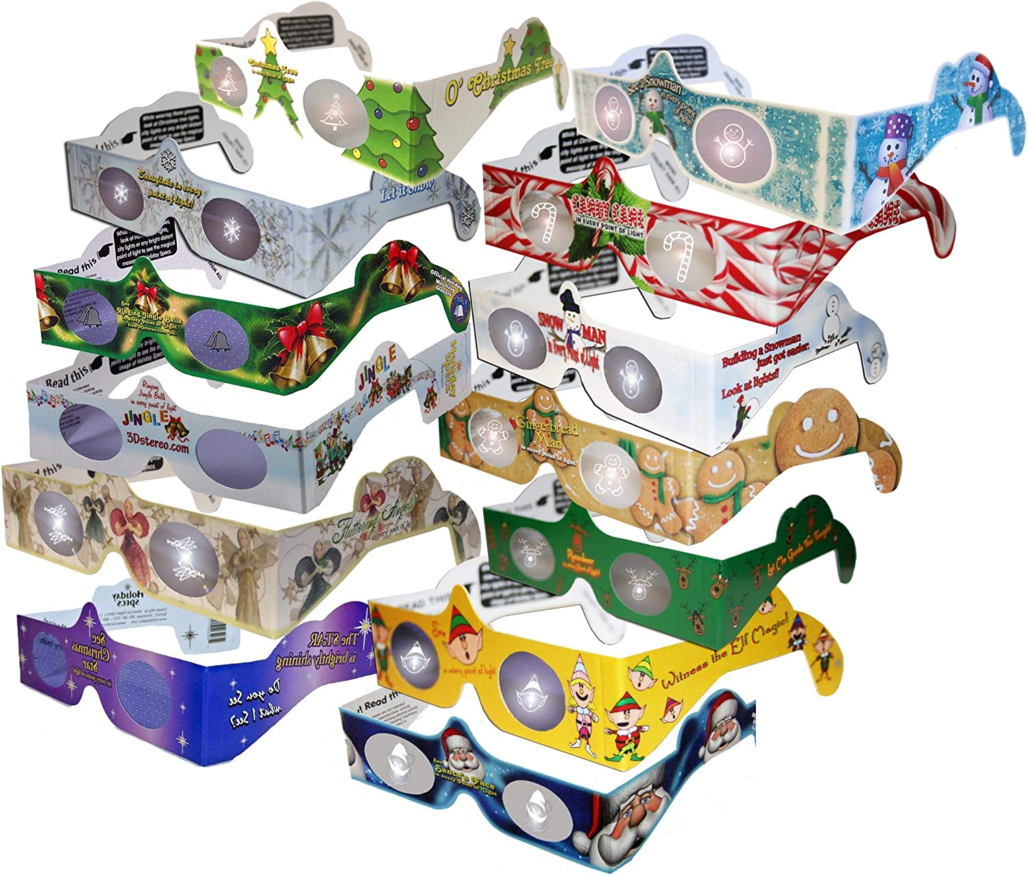 23 Pairs 3D Holiday Glasses -13 Max 84% OFF Includes Different Jingl Styles In a popularity