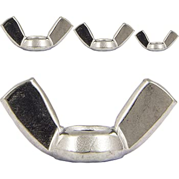 Eisenwaren2000 rostfrei 40 St/ück - /ähnl DIN 315 M5 Fl/ügelmuttern amerikanische Form Edelstahl A2 V2A