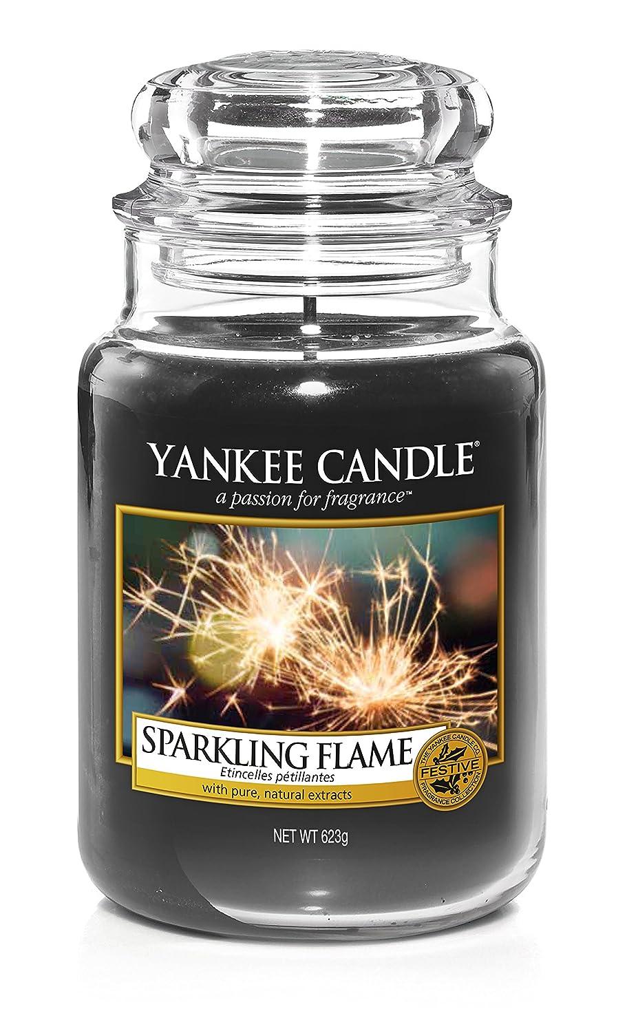 スライス性差別ゴルフYankee Candle Large Jar Candle 22?oz Sparkling Flame