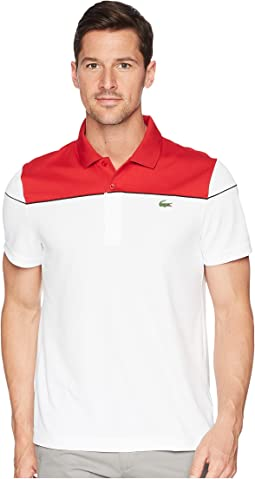 Short Sleeve Pique Ultra Dry w/ Color Block Yoke & Contrast Piping