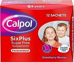 Calpol SixPlus Sugar Free Strawberry Paracetamol Sachets,