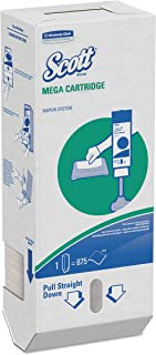 Scott 98908 MegaCartridge Napkins, 1-Ply, 8 2/5 x 6 1/2, White, 875 per Pack (Case of 6 Packs)