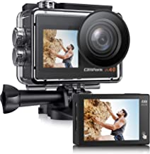 [2021 NEUESTE] Campark X40 Dual Bildschirm 4K 20MP WiFi Action Cam 40M Wasserdicht..