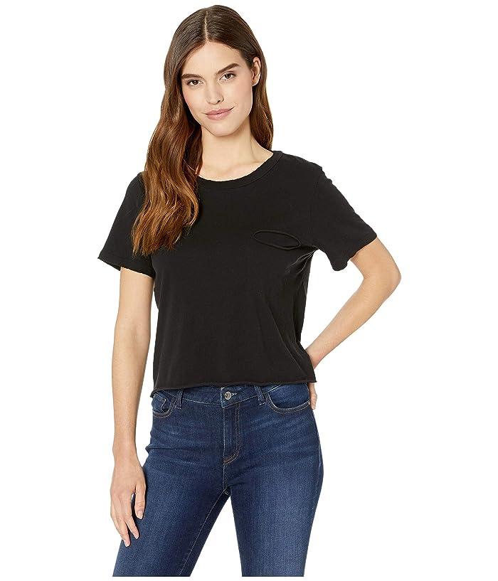 LAmade Cydney Distressed Pocket Tee (Black) Women's T Shirt