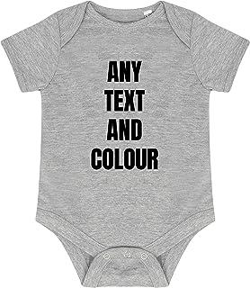 N Baby Body – Personalisierbarer Babybody – Individueller Name Text Bild – Junge Mädchen Unisex – Kurzarm – Einfache Individualisierung Baby Anzug für Säugling Kleinkind