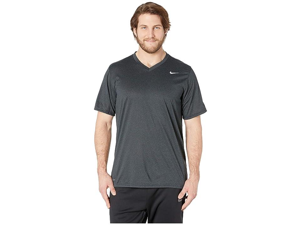 Nike Big Tall Dry Tee Legend V-Neck 2.0 (Black/Anthracite/Heather/Matte Silver) Men