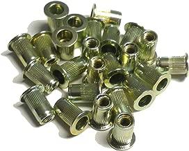 25 pcs 10-32 flat head ribbed body steel rivet nuts LFS-11130R