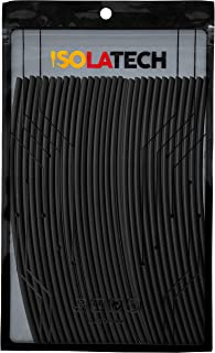 Krympslang set 1 mm svart 2:1 längd 6 meter i 30 st x 20 cm från ISOLATECH